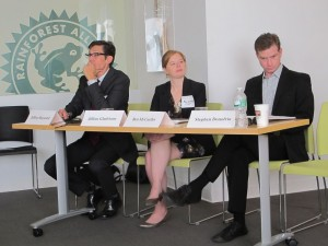 The panelists at a post-launch event for a new Supply Change report at Climate Week NYC on Thursday.