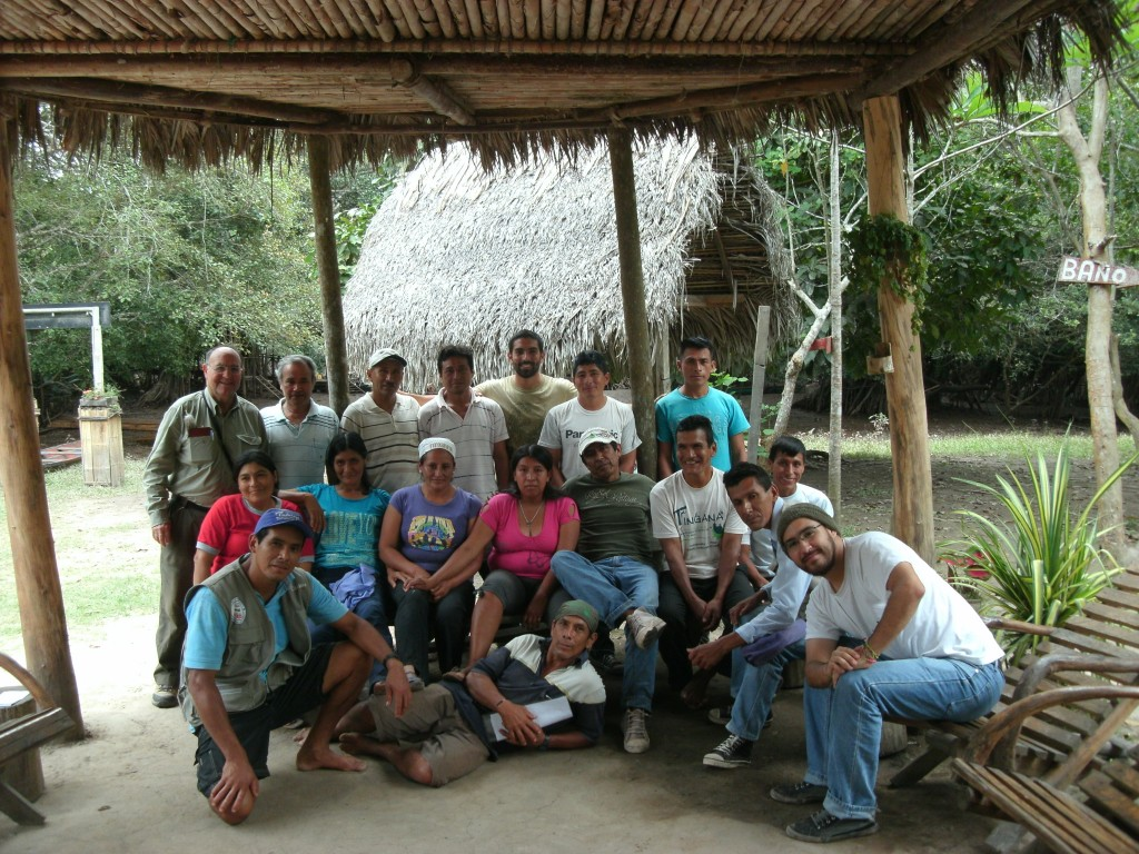 The working team of the community-founded Local Tourism Management Association in SRC. Photo courtesy of Ecoaldeas Peru.